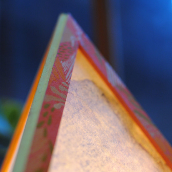 Balsa Pyramid Lamps